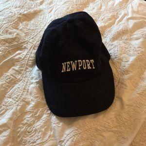 Brandy Melville Navy Newport Baseball Cap